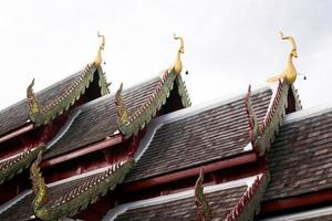 gable and roof temple in thailand photo