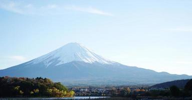 Fuji Mount and Asi lake,