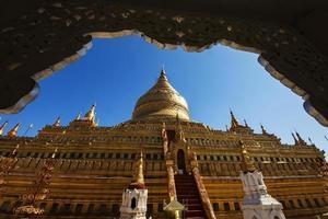 Shwezigon Pagoda, Bagan, Myanmar photo