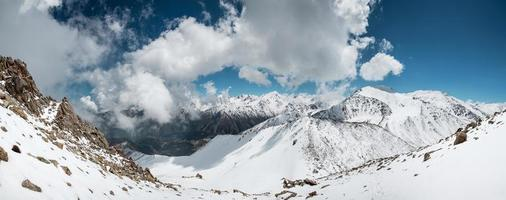 Panorama of Trans-Ili Alatau mountains. photo