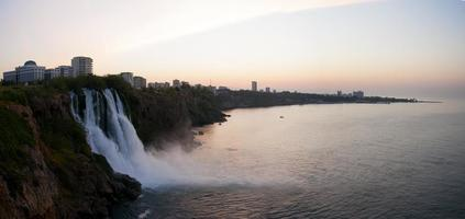 waterfall and sunrise photo