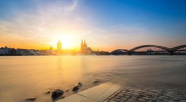 Cologne with Cathedral at sunset