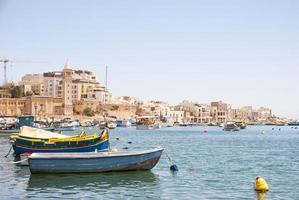 Marsaskala bay with boats, Malta photo