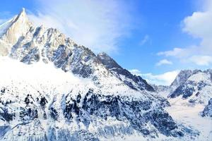 Mer de Glace (Sea of Ice) Chamonix, French Alps. photo