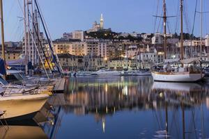 View on Marseilles in France in the morning photo