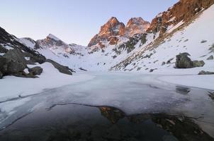 Monviso from Fiorenza lake- Italy photo