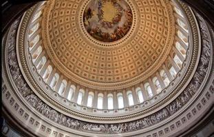 Capitolio de los EE. UU. cúpula redonda rotonda apótesis george washington dc foto