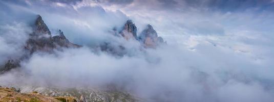 Panorama of the peak of Tre Cime Di Lavaredo photo