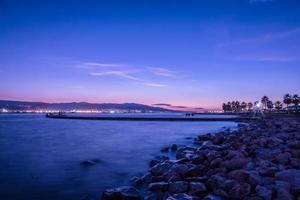 vista panorámica del océano durante el amanecer