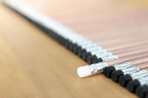 un lápiz señalado