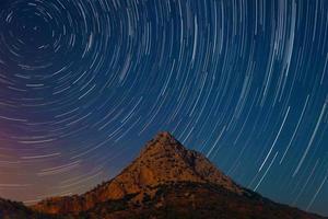 Timelapse of starry sky photo