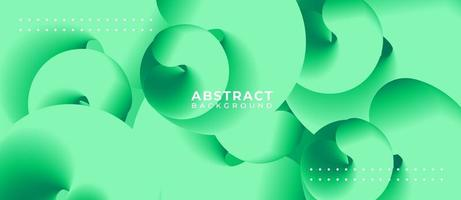 Spiral 3D Shape Green Abstract Background