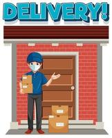 Delivery with delivery man