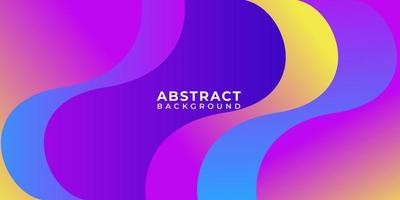 Geometric Multicolor Shape Wave Abstract Background vector