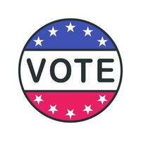 Vote outline circle icon