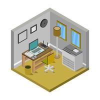 sala de la escuela isométrica vector
