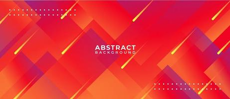 Bright Red Multicolor Geometric Shape Abstract Background vector