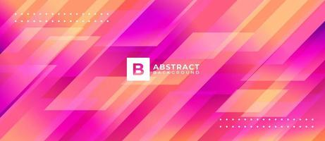 Geometric Pink and Orange Shape Abstract Background