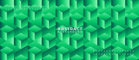 Geometric Green Box Shape Abstract Background
