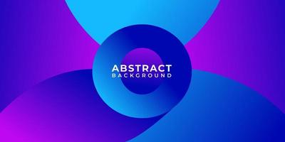 Geometric Purple Blue Overlapping Abstract Shapes Background
