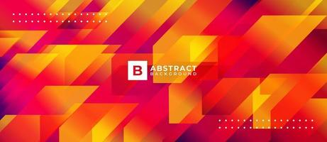 Geometric Orange Red Shape Multicolor Abstract Background