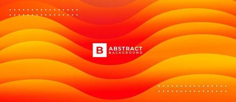 Geometric Orange Yellow Fluid Abstract Liquid Background vector