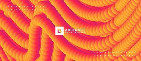 Orange Gradient 3D Textured Abstract Line Background vector