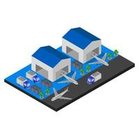 Isometric airport on a white background vector