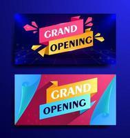 Set banner for grand opening modern design