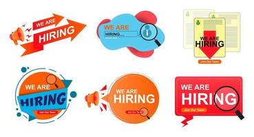Set background hiring vector