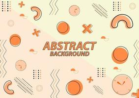 Abstract background with various object vector