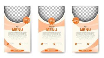 Instagram stories for menus vector