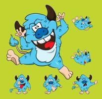 Set family monster cartoon