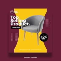 Furniture Social Media Post Template vector