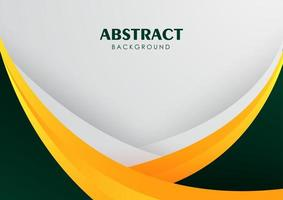 Abstract background with green and yellow vector