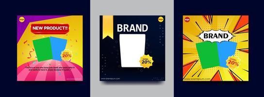 Instagram upload or square poster vector