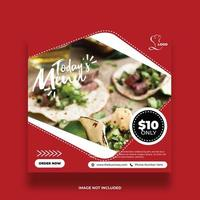 Red Restaurant Food Banner