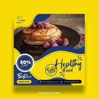 Yellow and Blue Restaurant Food Banner Template