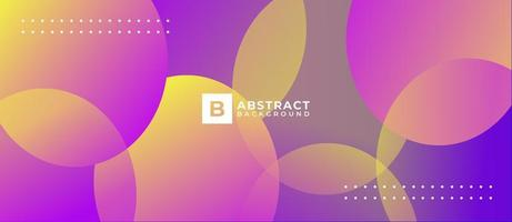 Purple Yellow Overlapping Gradient Shapes Background