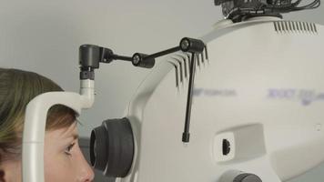 teste do olho do computador no optometrista