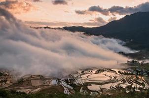 The China Yuanyangtitian beautiful scenery