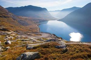 Way to Dalsnibba mountain in Norway photo