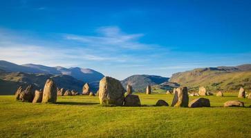 círculo de piedra de castlerigg foto