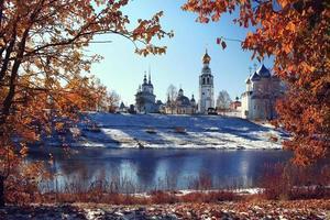 view of the Vologda Kremlin, monastery, church Fall