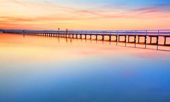 Beautiful sunset at Long Jetty photo