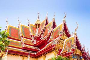 Buddhist temple in koh Samui, Thailand. photo