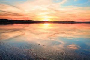 Sensational sunset at Long Jetty NSW Australia photo