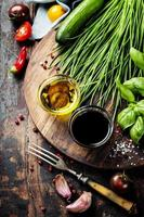 Organic Vegetables and spices photo