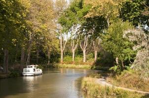 Tourism boat on the Canal du Midi, Southern France