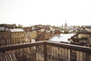 vista desde el balcón en lviv